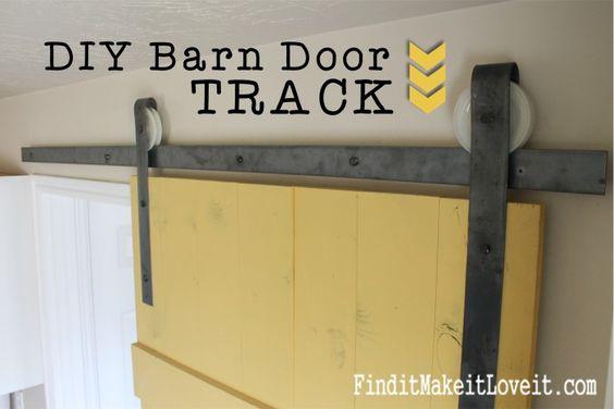 Marvelous DIY Barn Door Track