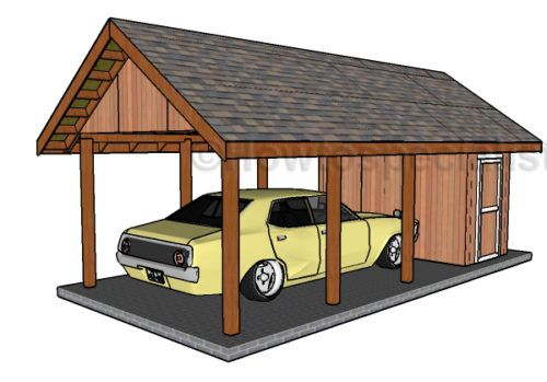 20 stylish diy carport plans that will protect your car for 2 car carport plans free