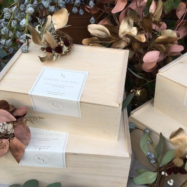 Træ kasser til gaver