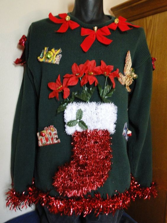 51 ugly christmas sweater ideas so you can be gaudy and festive cheap and ugly homemade christmas sweater solutioingenieria Gallery