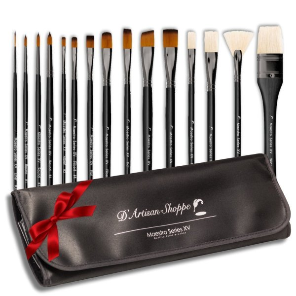 DArtisan Shoppe Maestro Series XV15-Piece Art Paint Brush Set