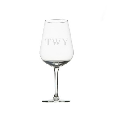 monogrammed wine glass