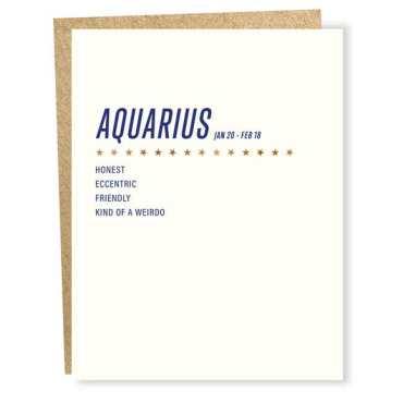 Aquarius Birthday Cards