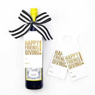 Friendsgiving wine tag