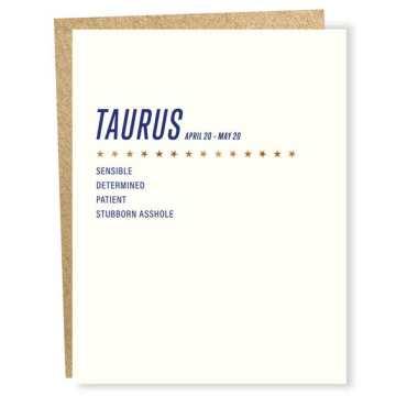 Taurus Birthday Cards