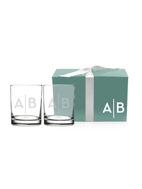 personalized Double Old Fashioned glass set.