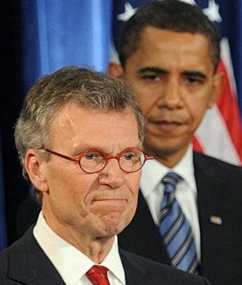 Tom Daschle et Barack Obama