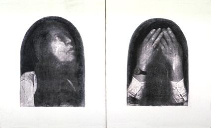 Jean Daviot, Michel Journiac, 1995, technique mixte sur toile, (61 x 50) x 2