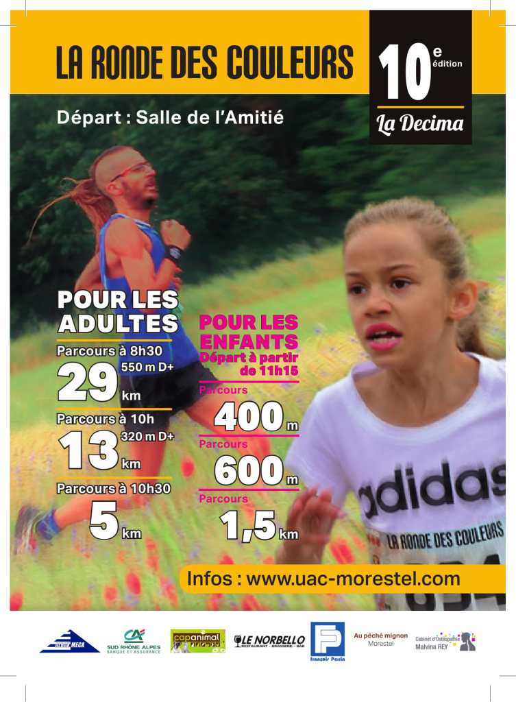 la ronde des couleurs 2018 Morestel Morning Runner
