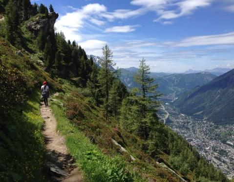 Sky walking from peak to peak