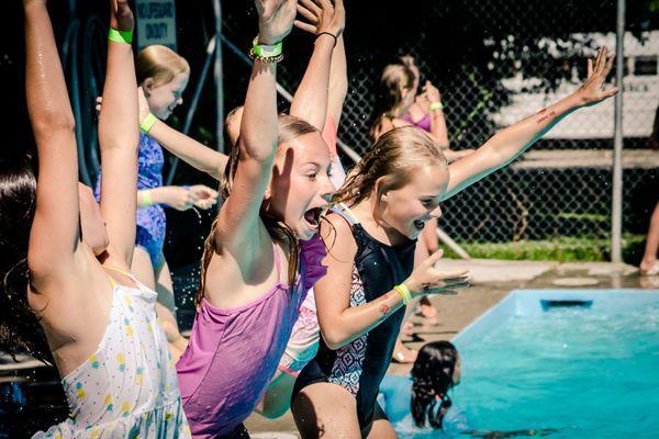 Girls camp pool