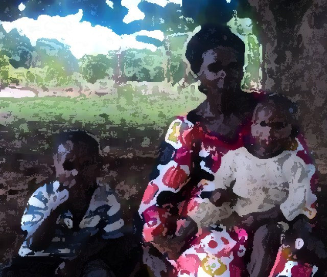 Ntende Hawa And Two Of Her Children Photo Altered For Security Reasons Morning