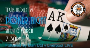 Poker Night & Liverpool vs Man Utd 'Live' @ Dallas Brooks Park