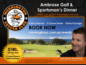 Golf Day & Sportsman's Dinner @ Mornington Golf Club