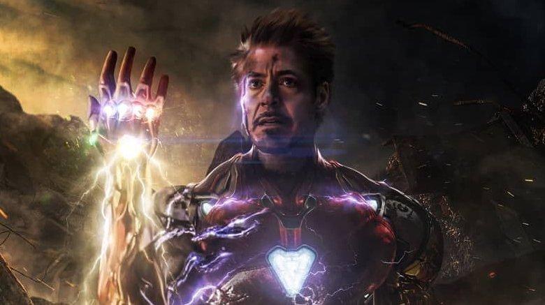 Tony Stark (Iron Man) with Infinity Stones in Avengers: Endgame
