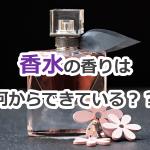 香水の香りは何からできている?合成香料と天然香料【youtube#2】