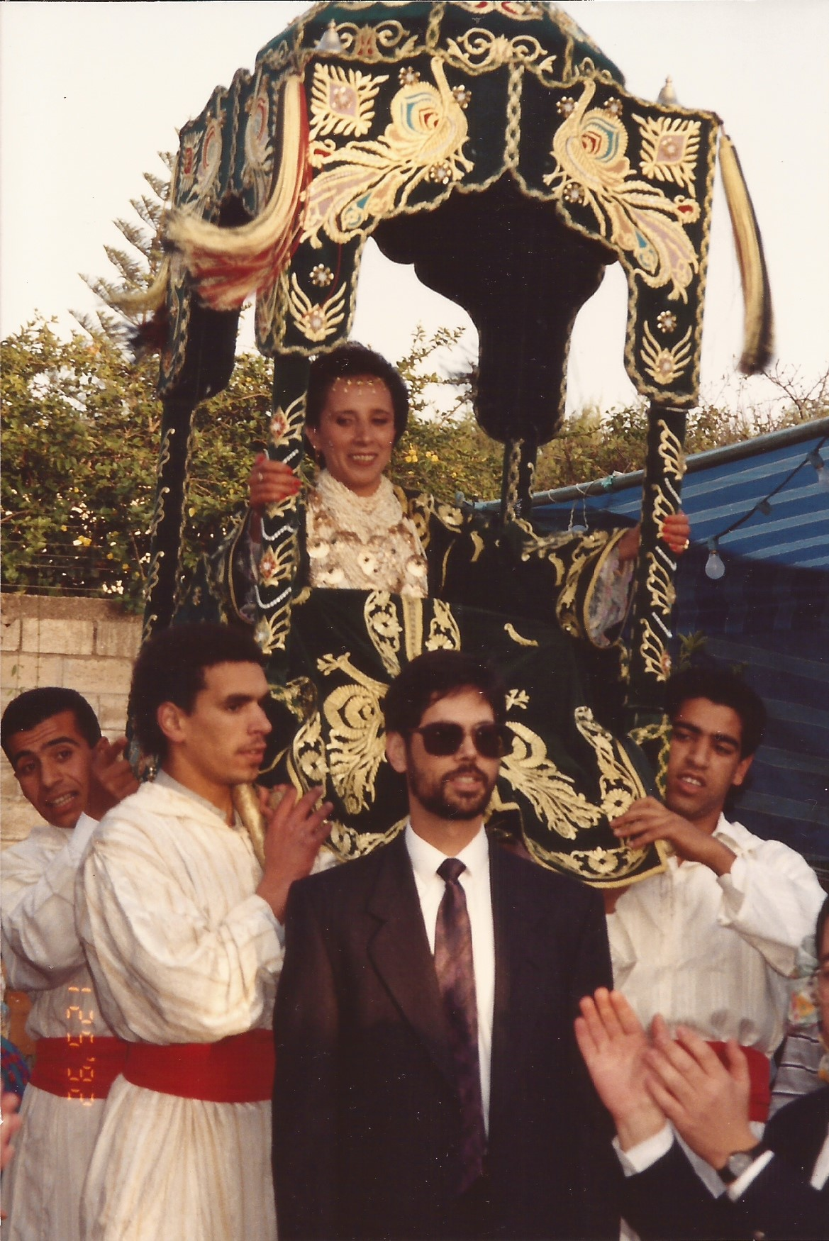 The entrance of the bride (and the groom) at my wedding party in Rabat 1992