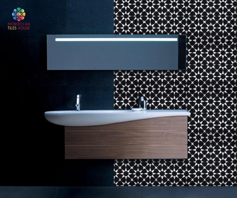 Cement Tile Bathroom