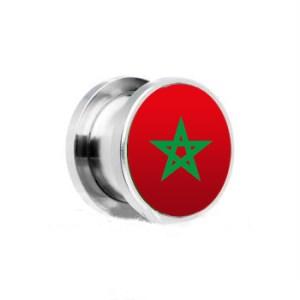 Oorbel met de marokkaanse vlag