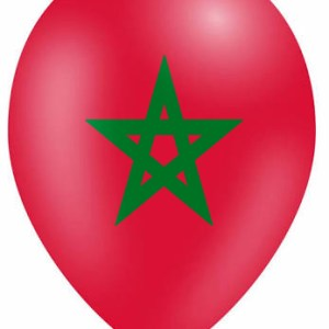 A red Balloon with a green moroccan star