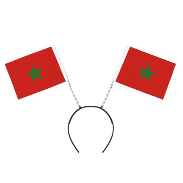 Marokkaans vlag op haarband