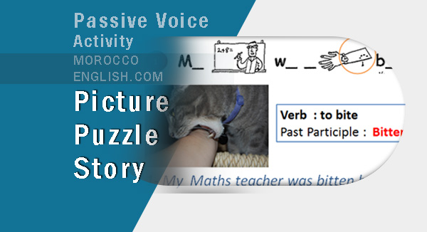 Picture Puzzle Story Ppt Pdf Fun Activity To Enhance Usage Of Passive Voice Structures Moroccoenglish