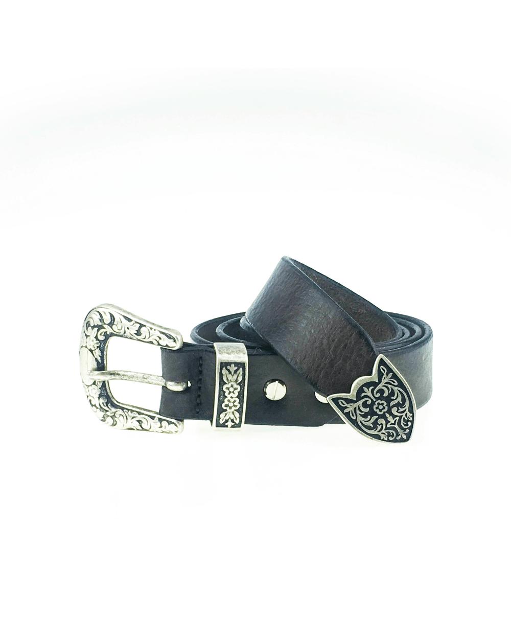Cintura in cuoio e lavorata a mano testa di moro