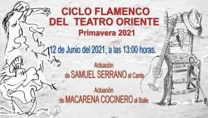FLAMENCO. Ciclo Flamenco del Teatro Oriente. 12 de junio @ Teatro Oriente