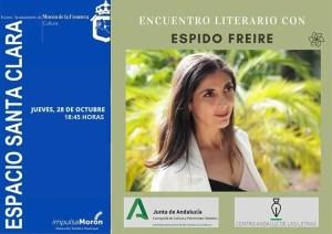 CULTURA. Encuentro literario con Espido Freire. 28 de octubre. Espacio Santa Clara @ Espacio Santa Clara
