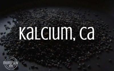Kalcium, Ca (kalk)