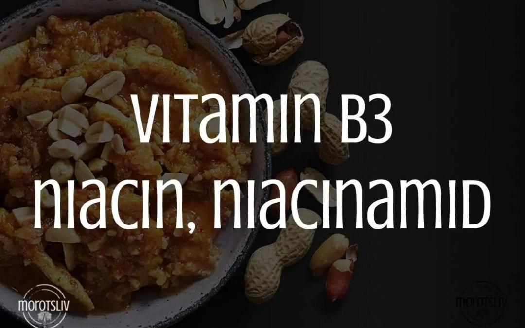 Vitamin B3, niacin, niacinamid