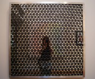 Universal Self Portrait 2, Interactive Sculpture: Rotate to Initiate State of Altered Vision, 3'x3', 2014