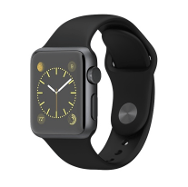 38mm Space Gray Aluminum Case with Black Sport Band