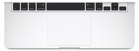 MacBook Pro arrow keys and trackpad