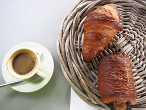 No campsite would be without croissants for breakfast, although sometimes you have to order the night before.