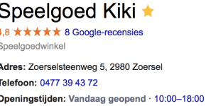 Googleplus reviews sterretjes