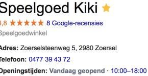 Googleplus reviews sterretjes