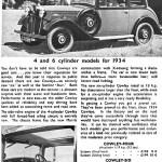 1934 model Morris Cowley Advert