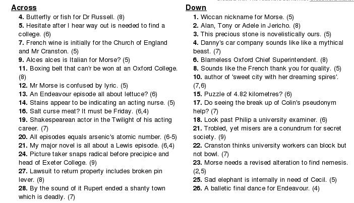Morse Crossword 2-2
