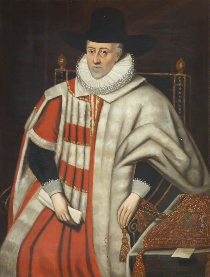 unknown artist; Sir Thomas Egerton (1539/1540-1617), Viscount Brackley, Baron Ellesmere, Commoner, Lord Chancellor of England (1603-1617), Chancellor of the University (1610-1617); Brasenose College, University of Oxford; http://www.artuk.org/artworks/sir-thomas-egerton-153915401617-viscount-brackley-baron-ellesmere-commoner-lord-chancellor-of-england-16031617-chancellor-of-the-university-16101617-221752