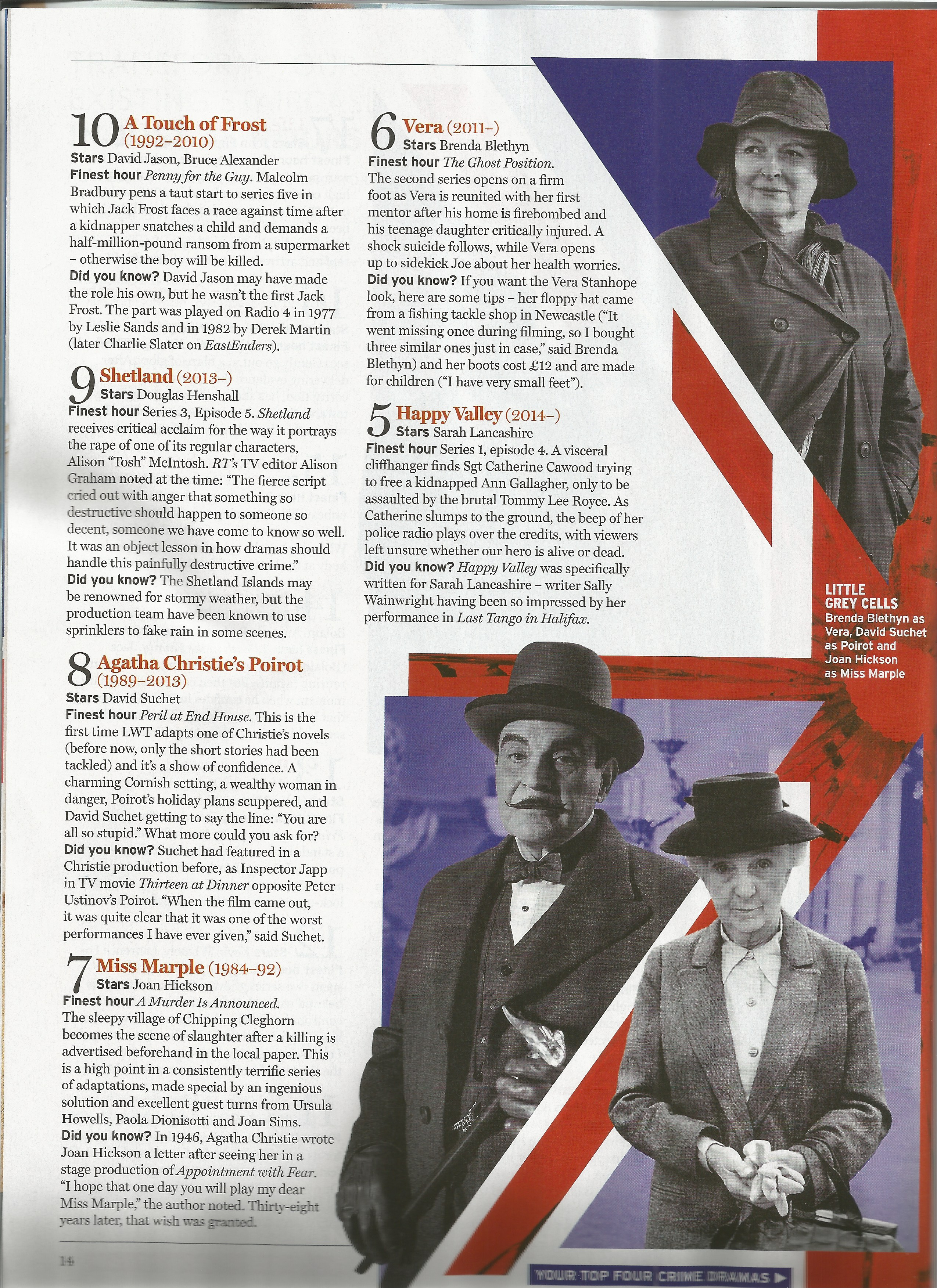 READ Radio Times Article on 50 Greatest British Crime Dramas  July