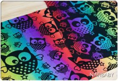 Natibaby Magical Owls Color Splash 100% katoen