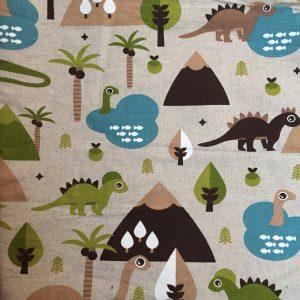 dinosaurussen decoratiestof (rugpand)