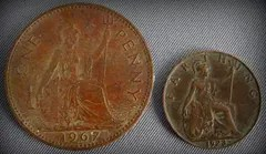 Penny and Farthing Coins