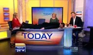Planking on the set of the Australian Today Show