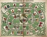 The Mansion of Happiness Board Game - 1843