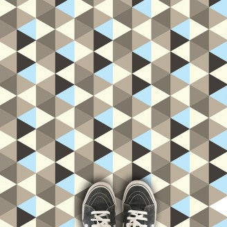 Geometric patterned vinyl flooring - 2017 geometric design available in th UK at forthefloorandmore.com