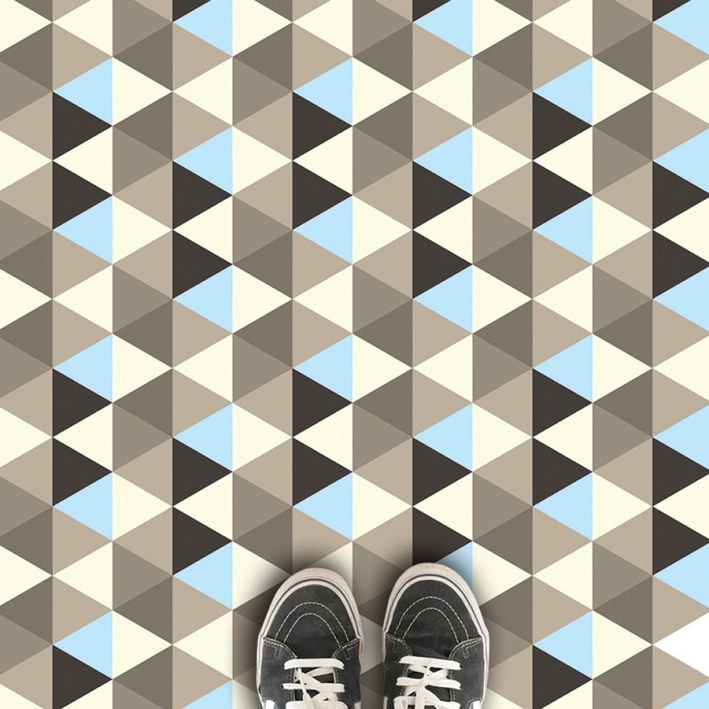 Geometric patterned vinyl flooring - 2017 geometric design available in th UK at forthefloorandmore.com