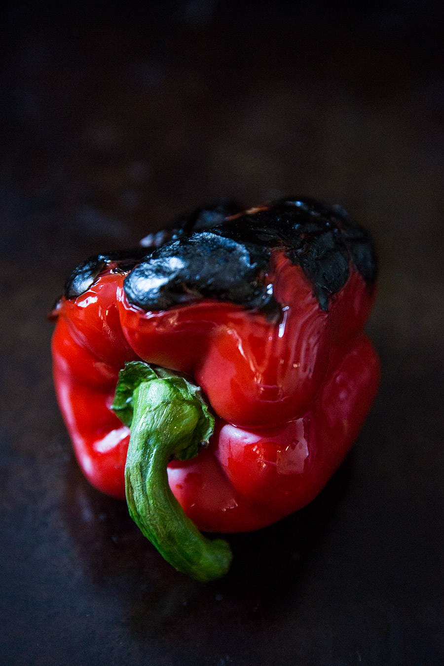 Roasted red pepper food photography from mortar-and-pestle.ca