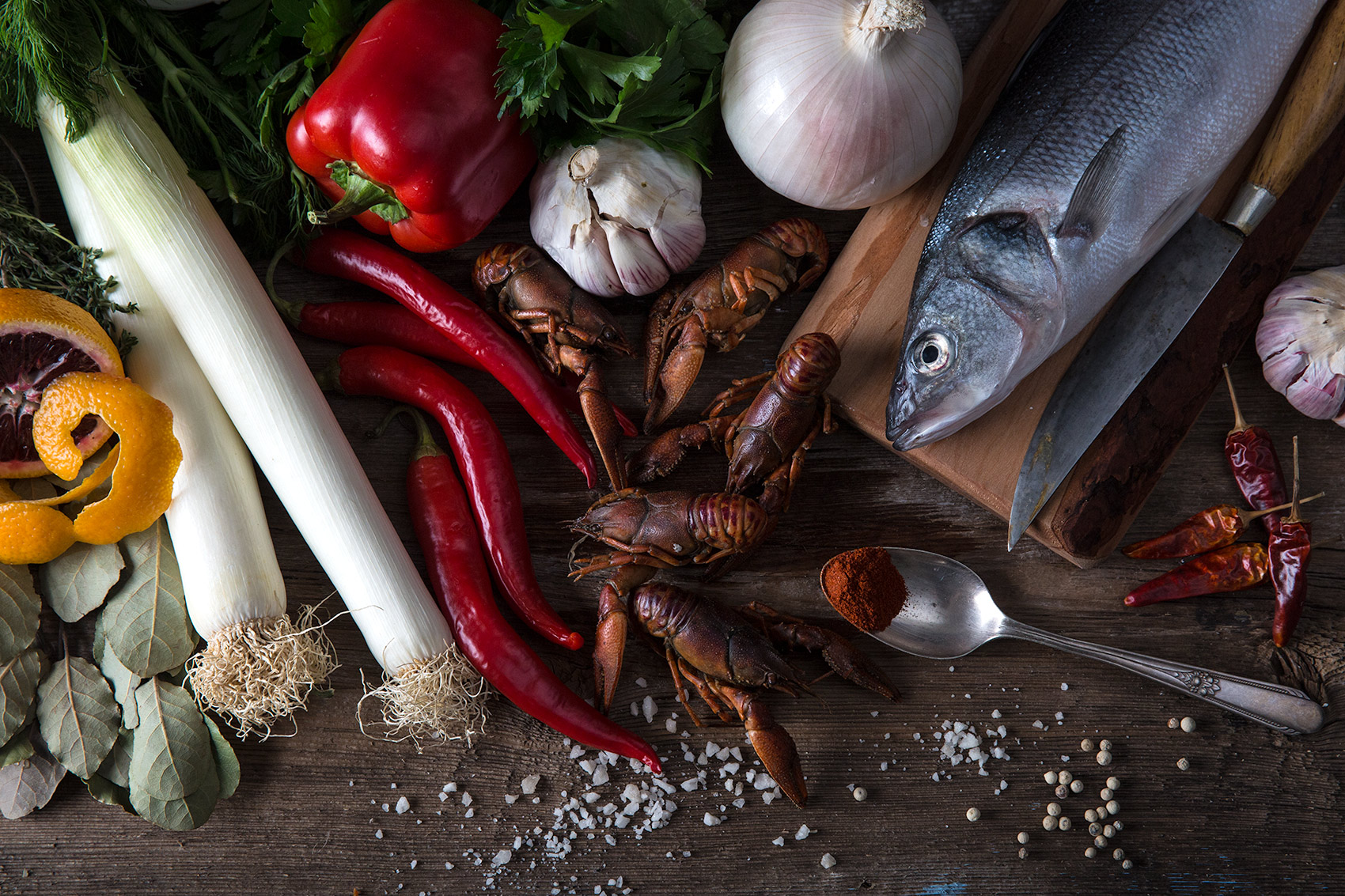 Seafood food photography still life from mortar-and-pestle.ca